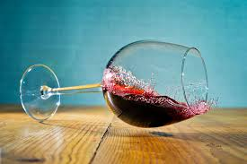wine spill side glass