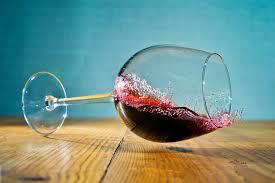 wine spill side glass